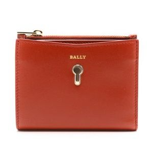 Bally Cogan Women's Red Calf Leather French Wallet